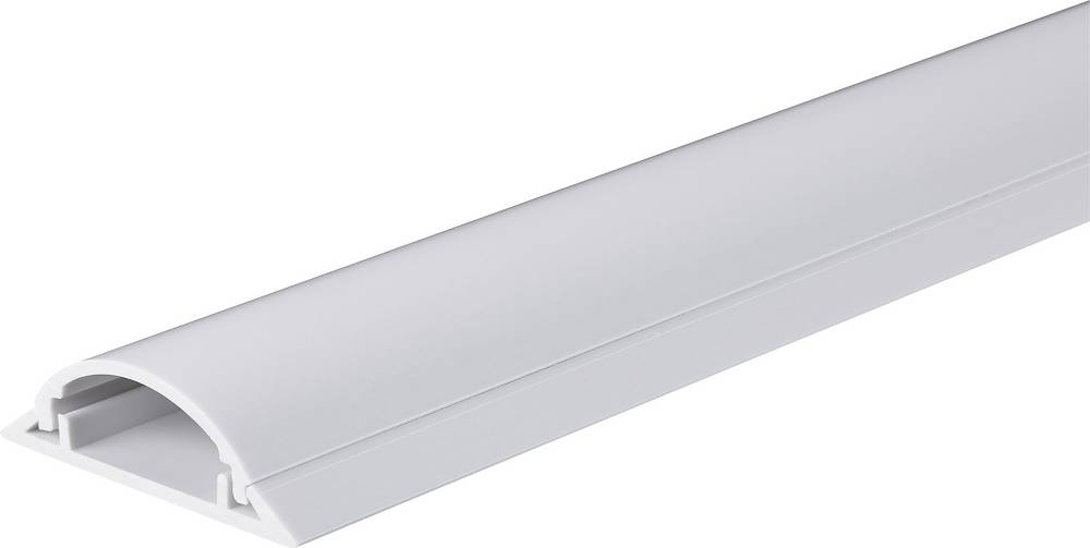 Talna zaščita za kable 1 m (D x Š) 1000 mm x 49.5 mm bela Conrad vsebina: 1 kos