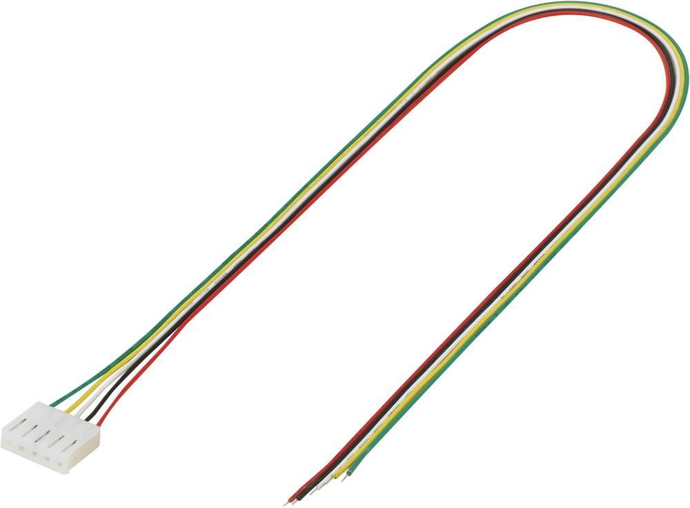 Konfektionerede kabler Samlet antal poler 5 TRU COMPONENTS 1244010 Rastermål: 3.96 mm 1 stk