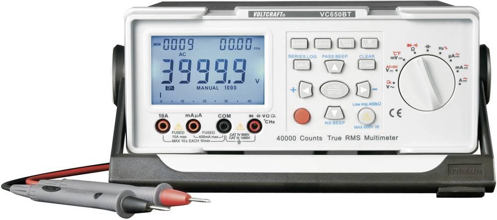 Namizni multimeter, digitalni VOLTCRAFT VC650BT kalibracija narejena po: delovnih standardih, CAT II 600 V število znakov na zas