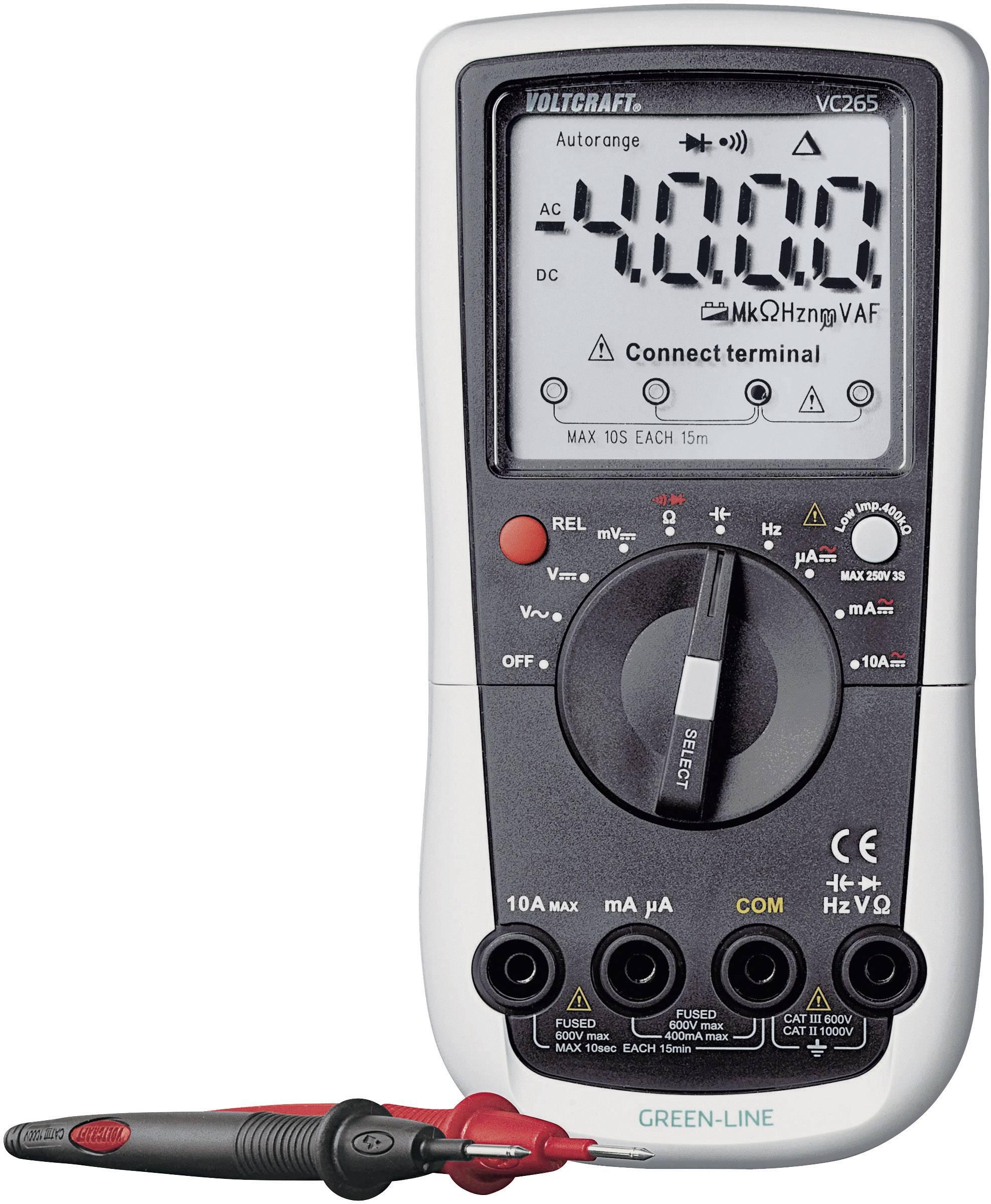 CAT IV 600 IP65 Multim/ètre VOLTCRAFT VC-440 E VC-440 E num/érique prot/ég/é contre les projections deau CAT III 1000 V