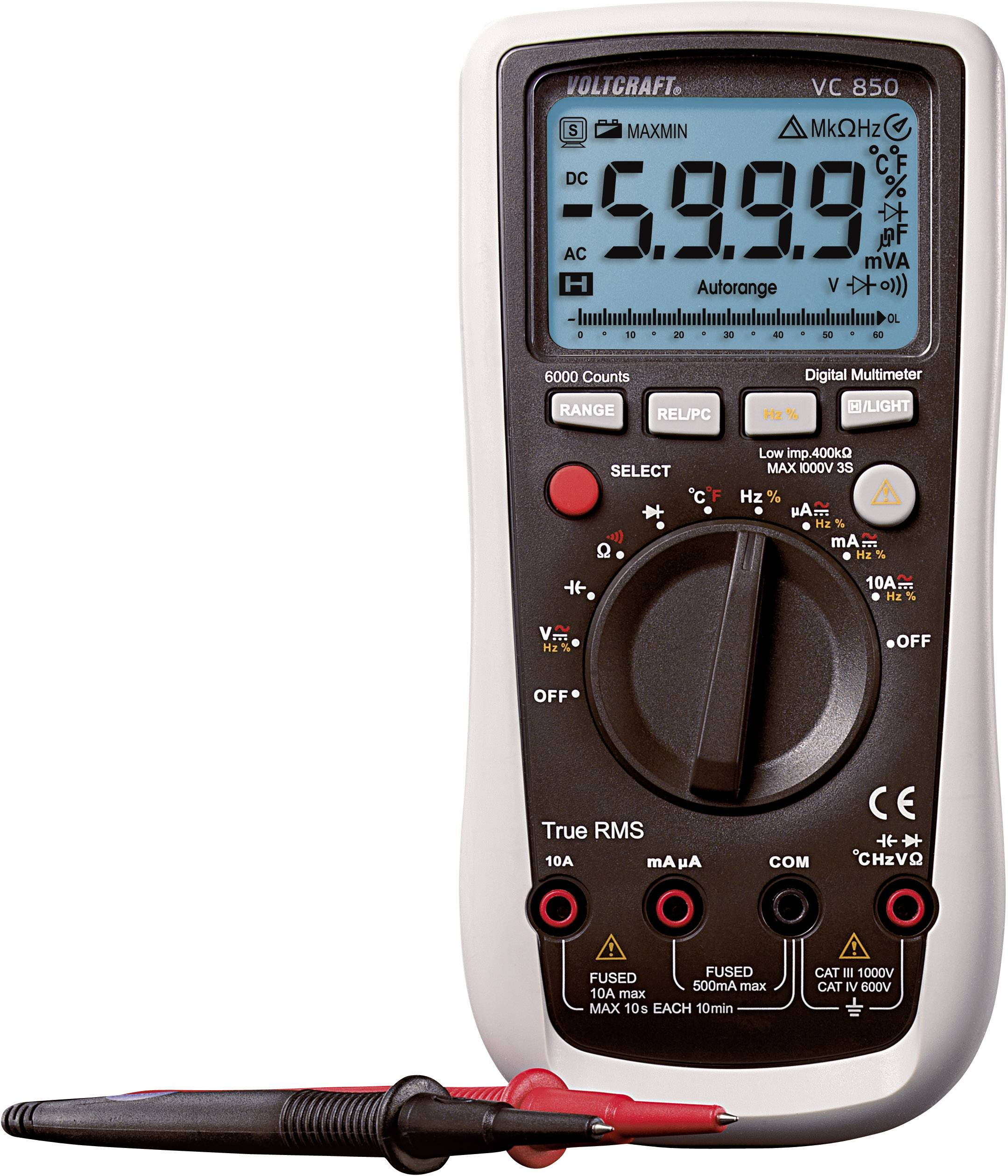 Handheld multimeter Digital VOLTCRAFT VC850 CAT III 1000 V