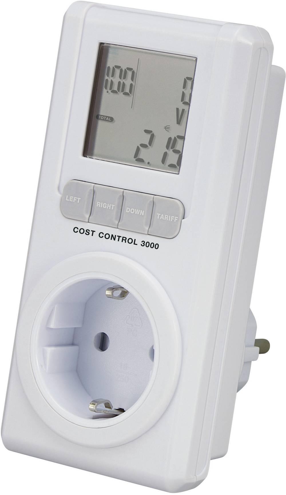 Basetech COST CONTROL 3000 Merilnik stroškov energije z LCD-jem, 0.00 - 9999.99 kWh