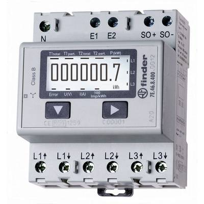 Finder 7E.46.8.400.0012 Electricity meter (3-phase) Digital 65 A MID-approved: Yes