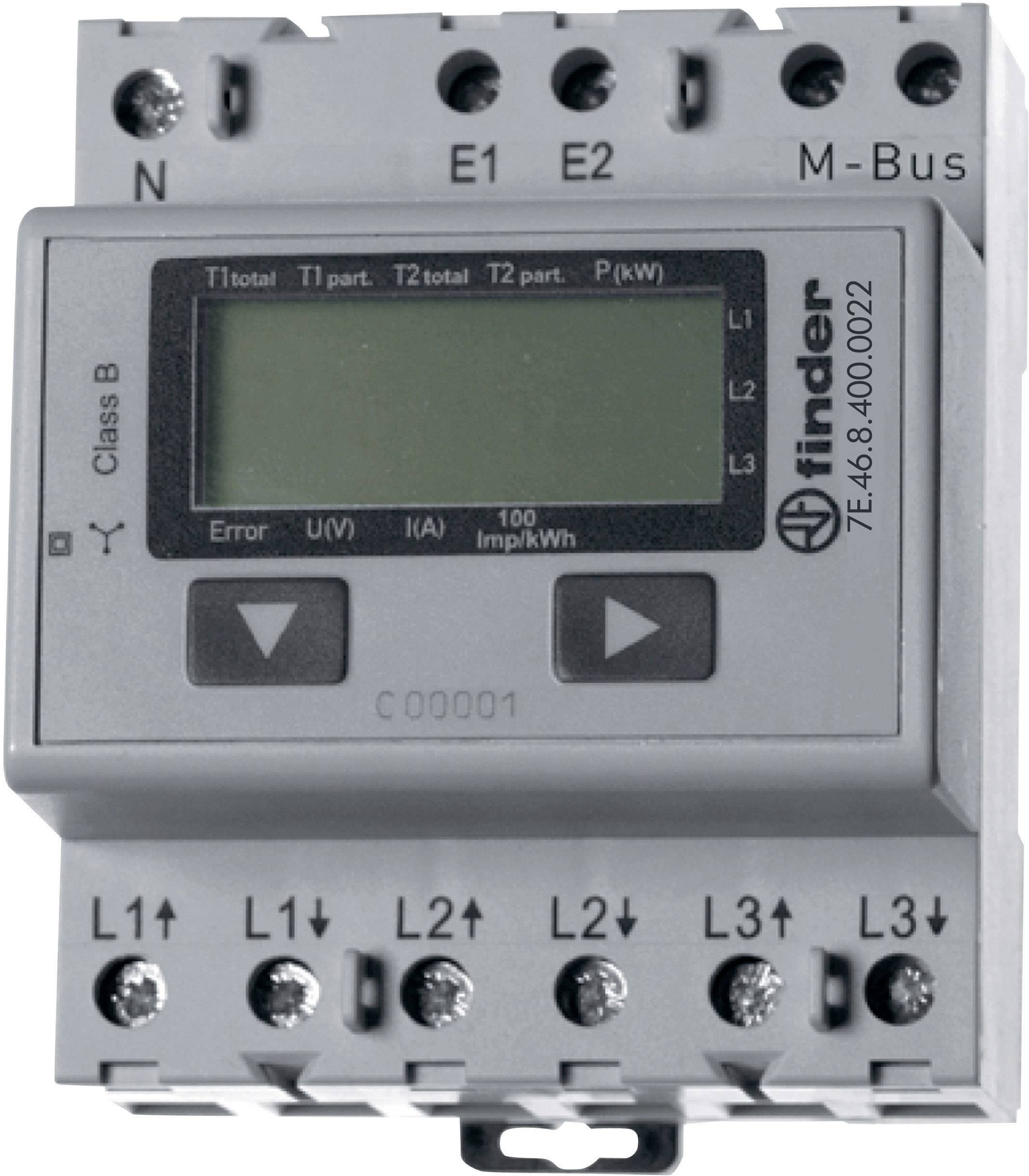 Finder 7E 46 8 400 0022 Electricity meter (3-phase) Digital