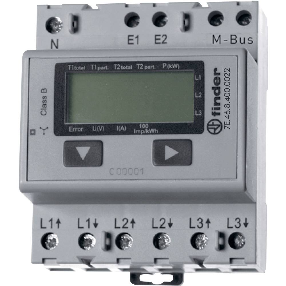 Finder 7e4684000022 Electricity Meter 3 Phase Digital 65 A Mid How To Wire 3phase Kwh Electrical Technology Approved No