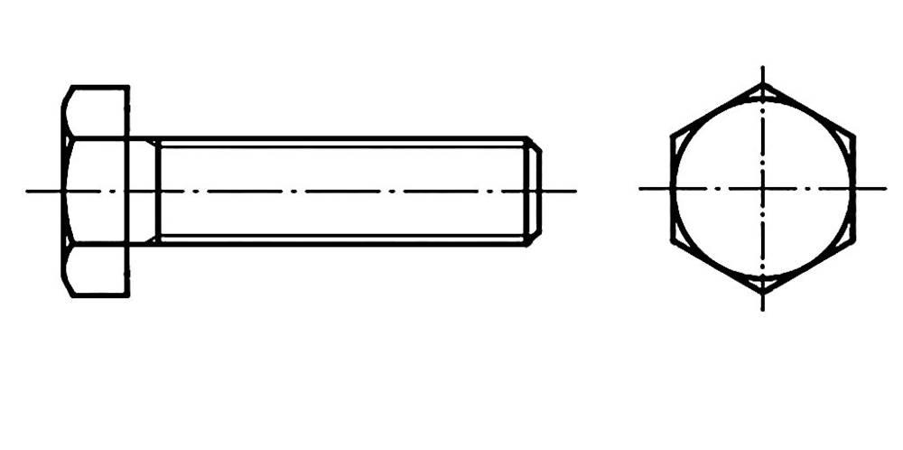 Sexkantsskruvar TOOLCRAFT M14 70 mm Yttersexkant DIN 933 Stål 50 st