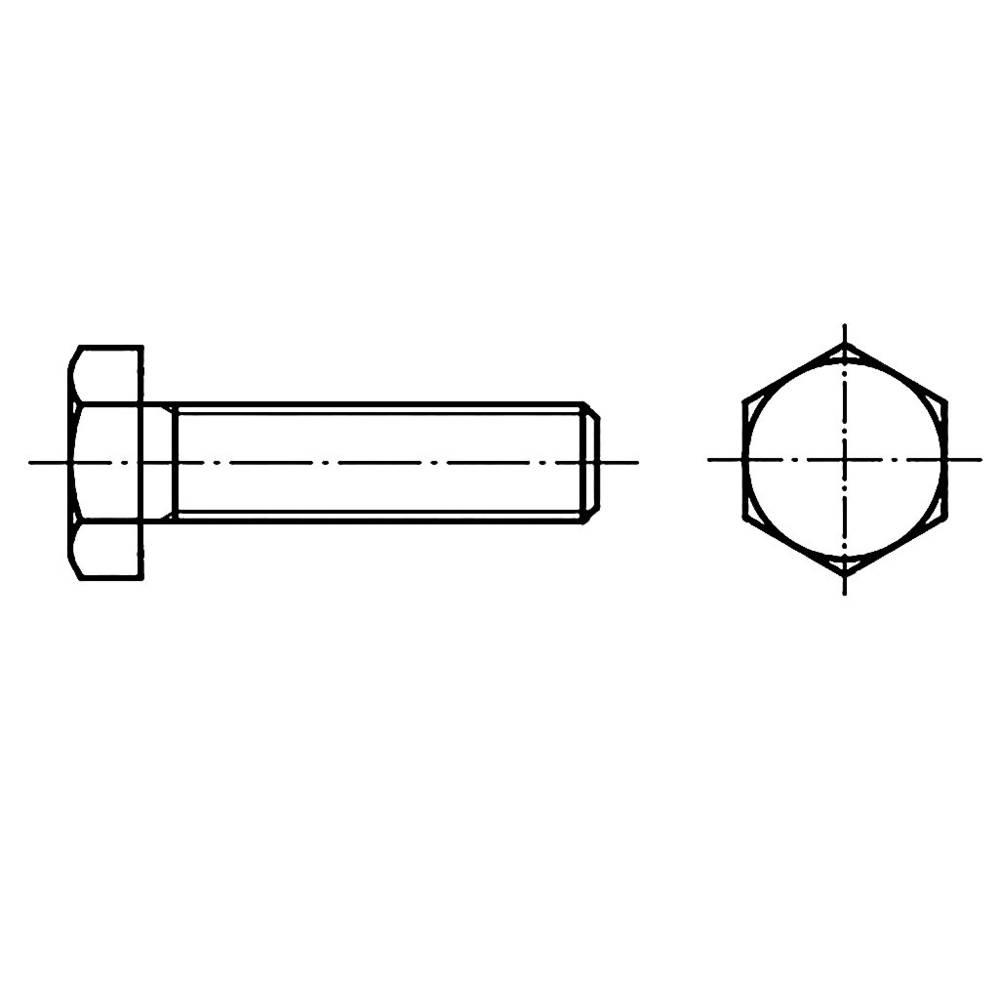 Sexkantsskruvar TOOLCRAFT M16 55 mm Yttersexkant DIN 933 Stål 50 st