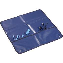 ESD servisni set, temno modre barve (D x Š) 60 cm x 60 cm Conrad Components ESDM-600600BK vklj. ESD ščetka, vklj. ozemljitveni k