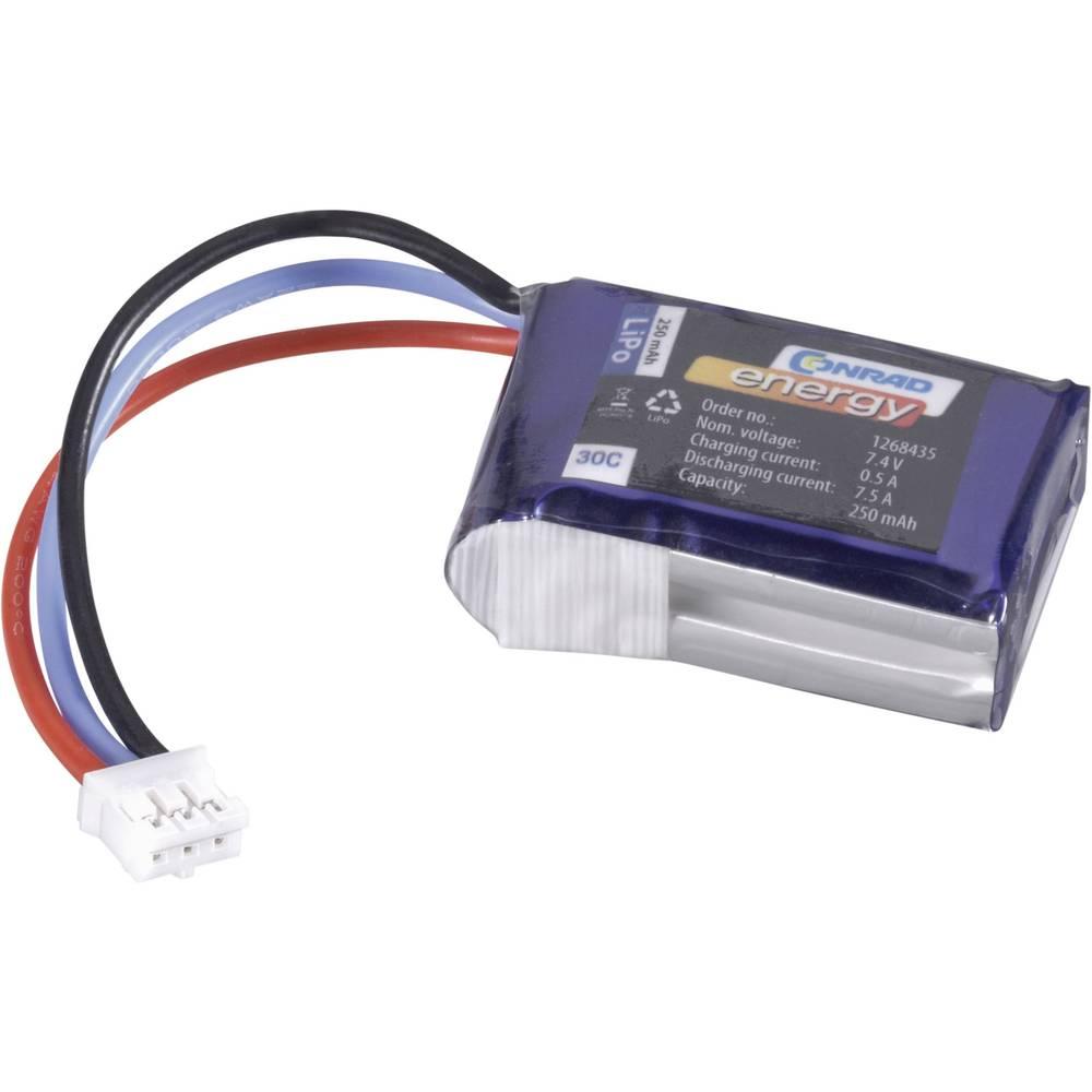 Baterijski paket za modele (LiPo) 7.4 V 250 mAh broj ćelija: 2 30 C Conrad energy