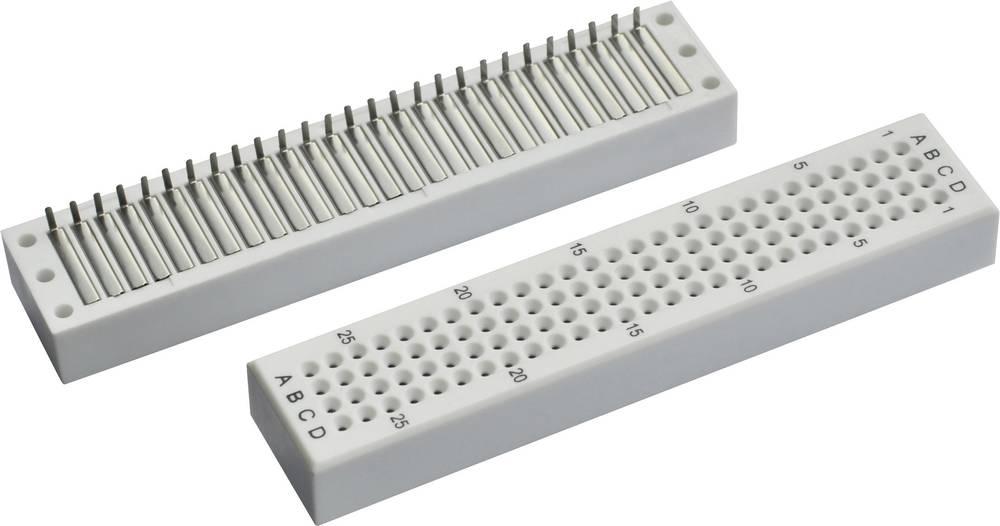 Plošča za tiskano vezje prez spajkanja s spajkalnim priključkom št. polov skupno 108 (D x Š x V) 76.2 x 16 x 8.4 mm Conrad 0165-