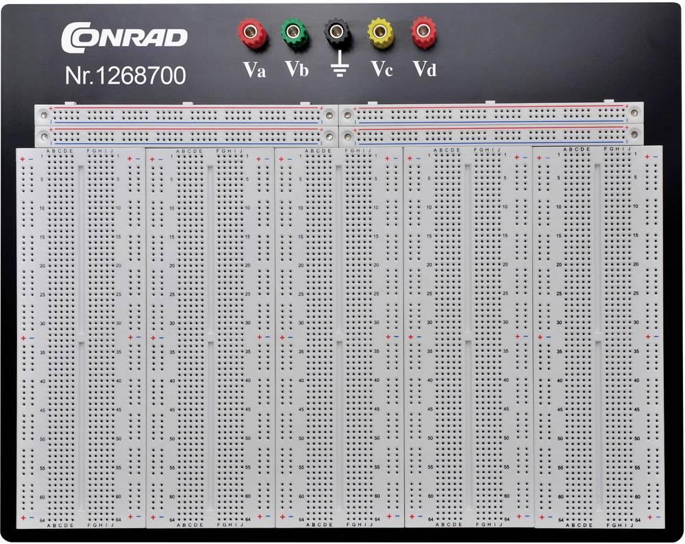 Breadboard Conrad Components 0165-40-1-32054 (L x B x H) 186.2 x 286 x 8.4 mm