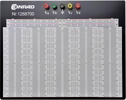 Plošča za tiskano vezje prez spajkanja št. polov skupno 4520 (D x Š x V) 186.2 x 286 x 8.4 mm Conrad 0165-40-1-32054 1 kos