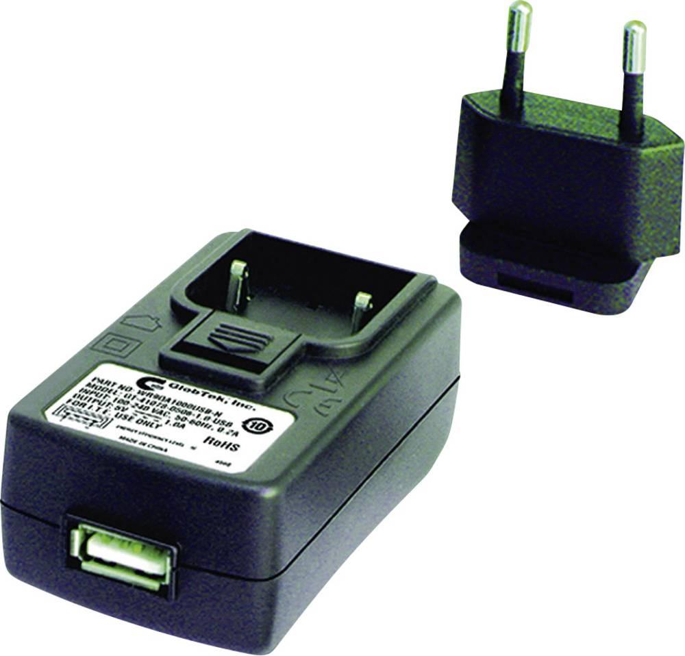 USB-oplader GlobTek GTM41078 WR9QA1200USBNMDEURVB Stikdåse Udgangsstrøm max. 1200 mA 1 x USB