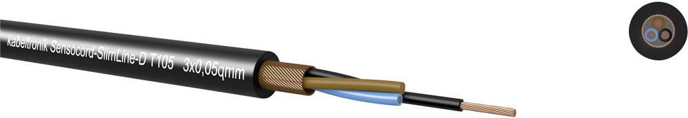 Sensorkabel Kabeltronik Sensocord® 8 x 0.05 mm² 24308D5T9 Sort Metervare