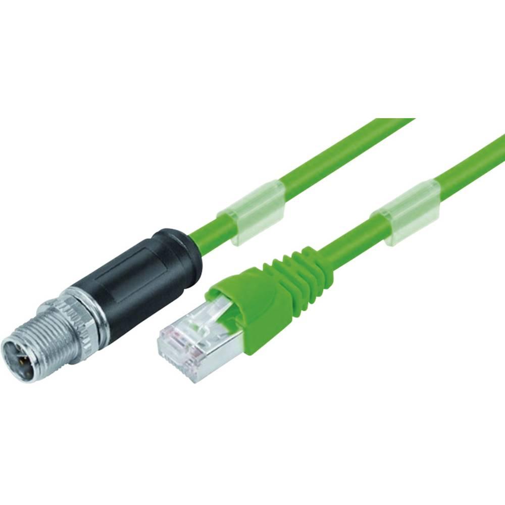 Povezovalni kabelski vtič, M12x1 - RJ45 vtič 79 9723 050 08 srebrne barve, zelene barve, črne barve povezovalnik vsebuje: 1 kos
