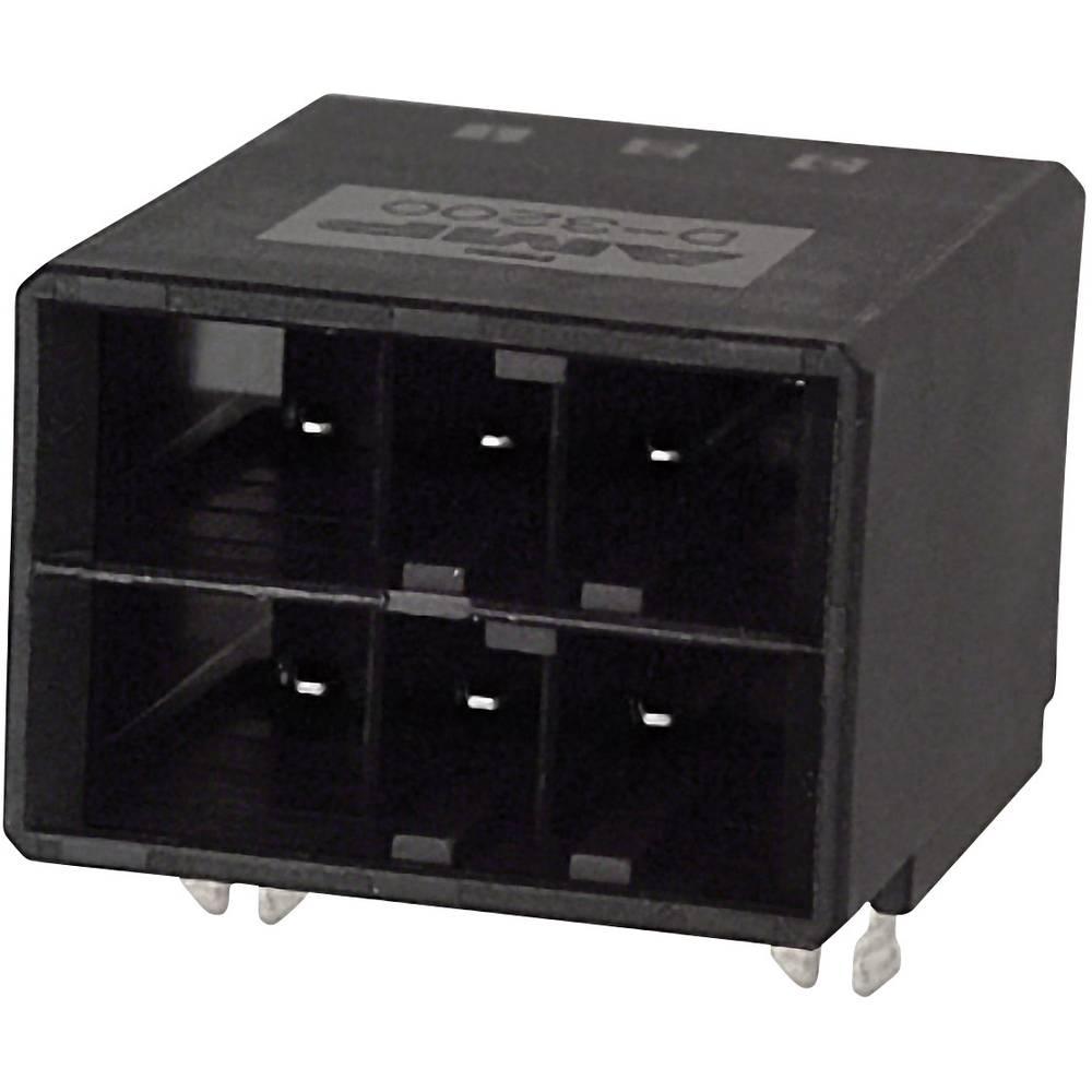 Indbygningsstiftliste (præcision) DYNAMIC 3000 Series Samlet antal poler 6 TE Connectivity 3-178139-2 1 stk
