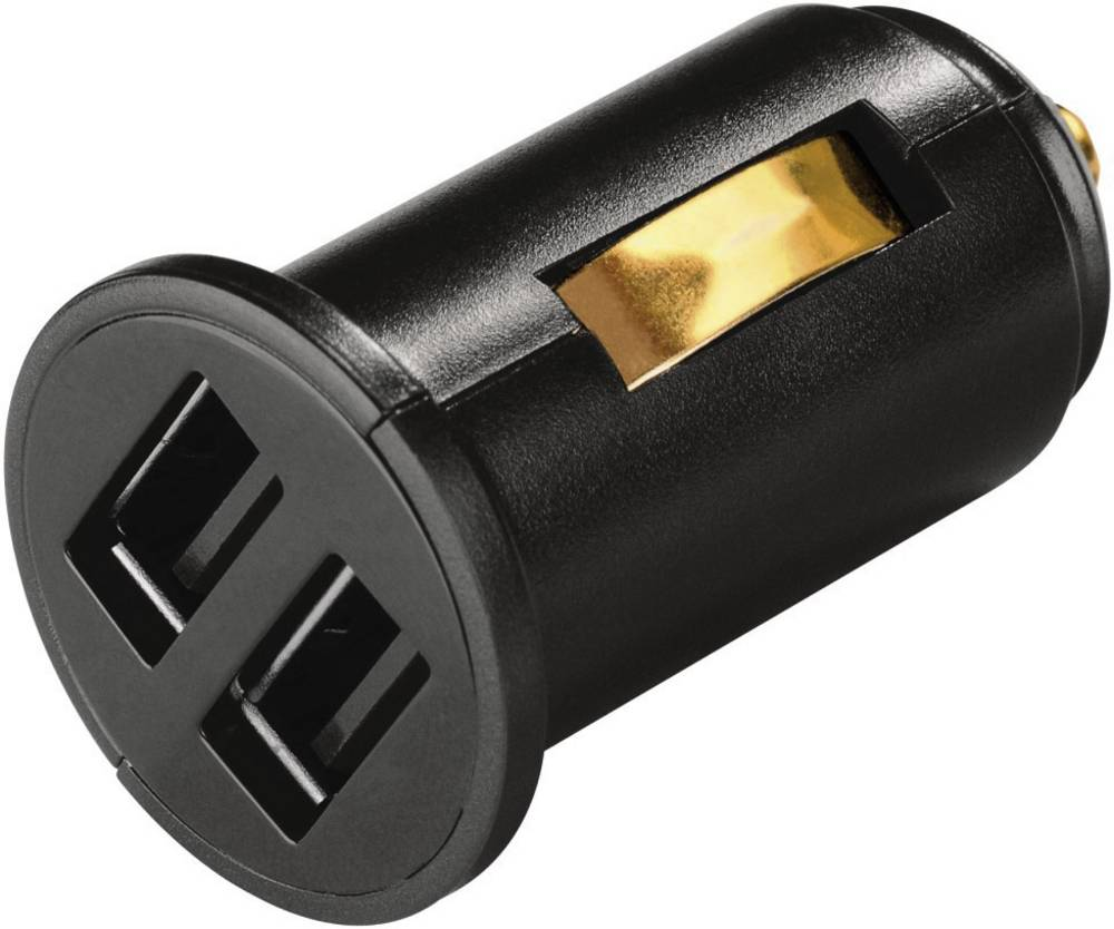 USB-oplader Hama 00014138 Personbil Udgangsstrøm max. 2400 mA 2 x USB