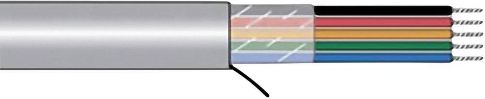 Krmilni kabel Xtra-Guard® 1 4 x 0.23 mm Schiefer-sive barve AlphaWire 5014C SL005 meterski