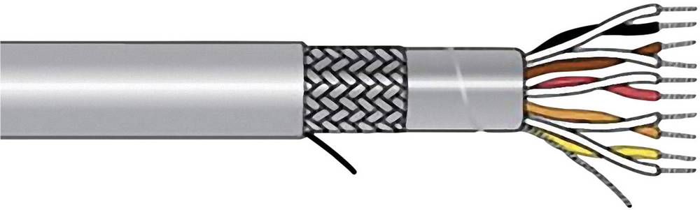 Krmilni kabel Xtra-Guard® 1 4 x 0.23 mm Schiefer-sive barve AlphaWire 5272C SL005 meterski