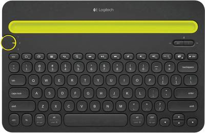 Image of Logitech K480 Tablet PC keyboard Compatible with (tablet PC brand): universal Android™, Apple iOS®, Windows®, Mac OS®