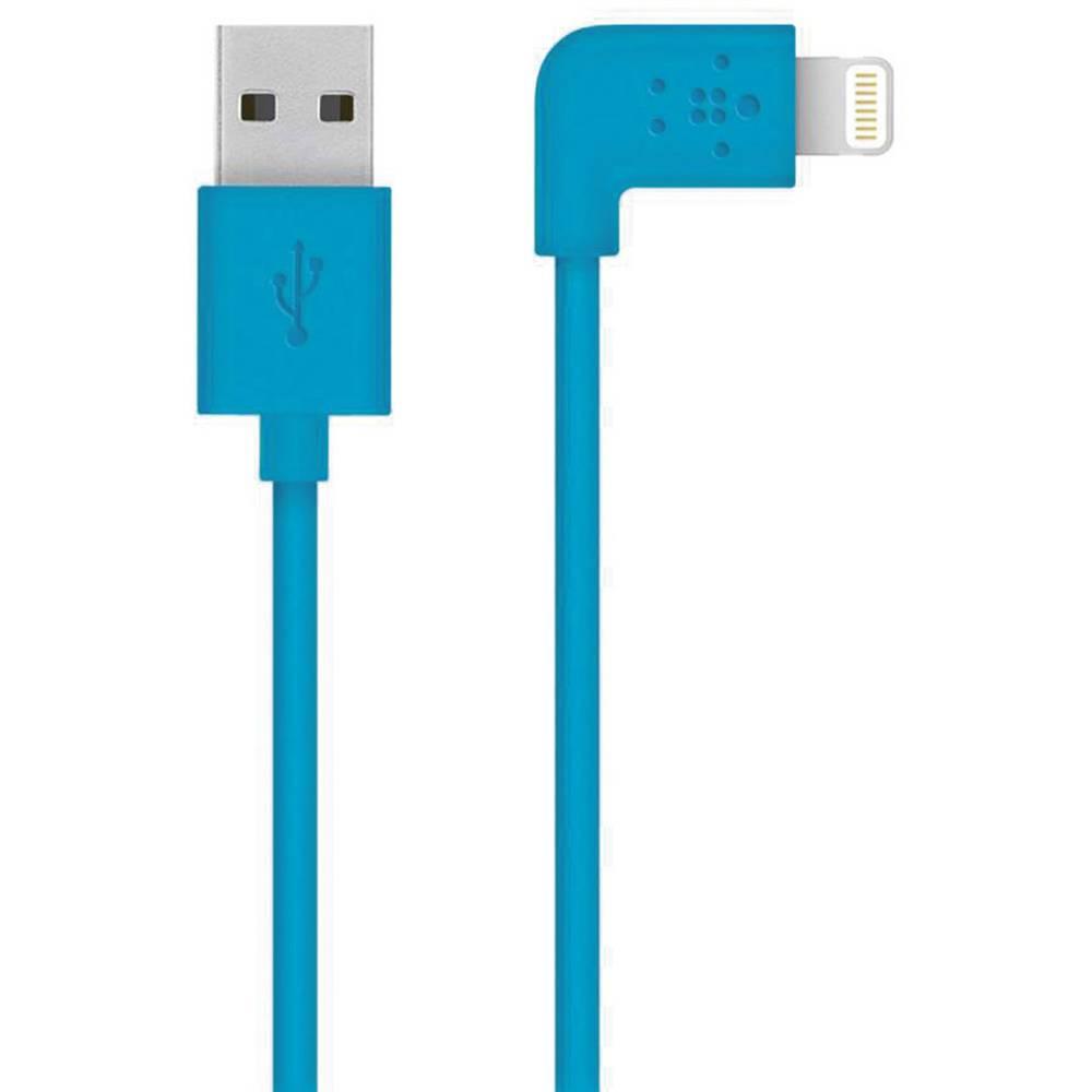 Kabel za napajanje/podatkovni Belkin za iPad/iPhone/iPod [1x DOCK-utikač Lightning - 1x USB 2.0 utikač A] 1.20m, plav