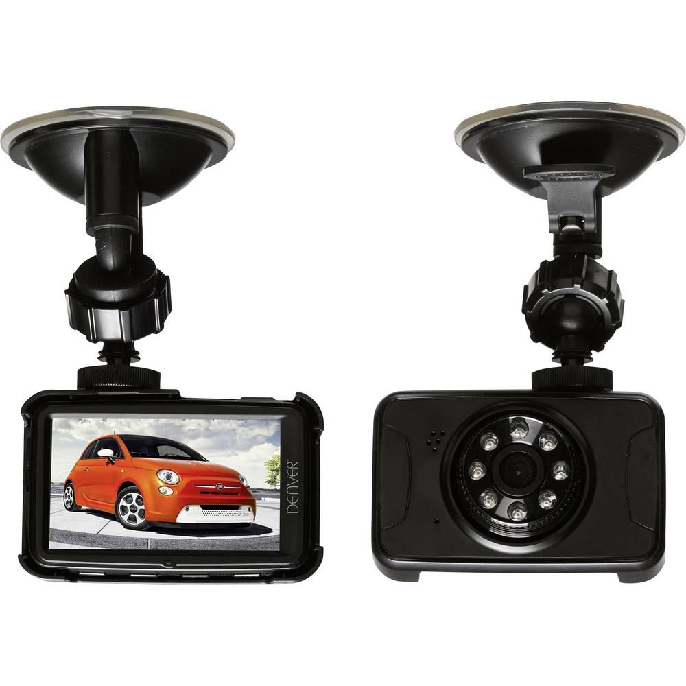 Dashcam Denver CCT-5001 Betragtningsvinkel horisontal=120 ° 12 V Batteri, Display, Mikrofon