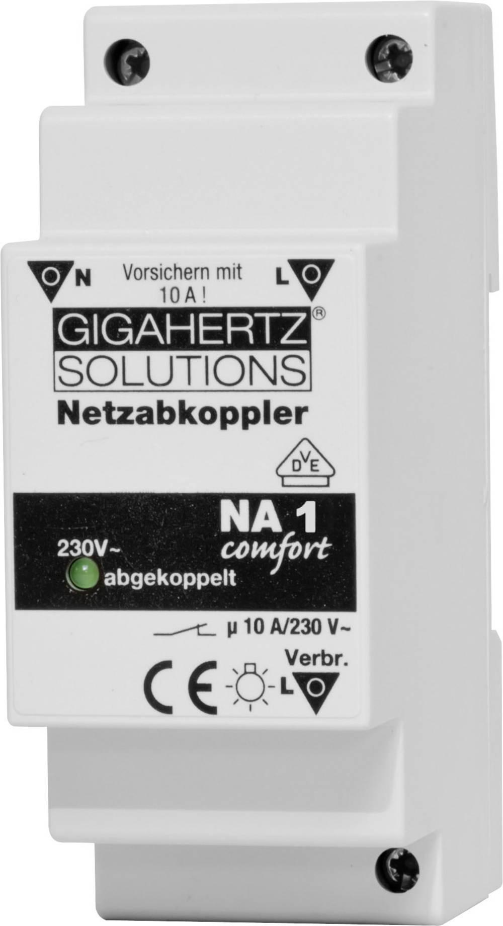 Netafkobler 1 stk Gigahertz Solutions NA1 Koblingsspænding (max.): 230 V/AC 10 A 2300 W Ripple: 15 mV