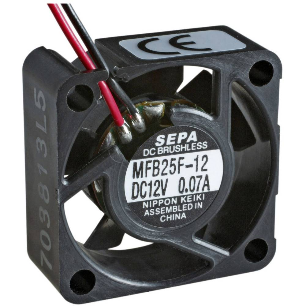 Aksialni ventilator 12 V/DC 4.2 m/h (D x Š x V) 25 x 25 x 10 mm SEPA MFB25F12