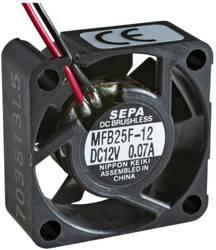 Aksial ventilator 12 V/DC 4.2 m³/h (L x B x H) 25 x 25 x 10 mm SEPA MFB25F12