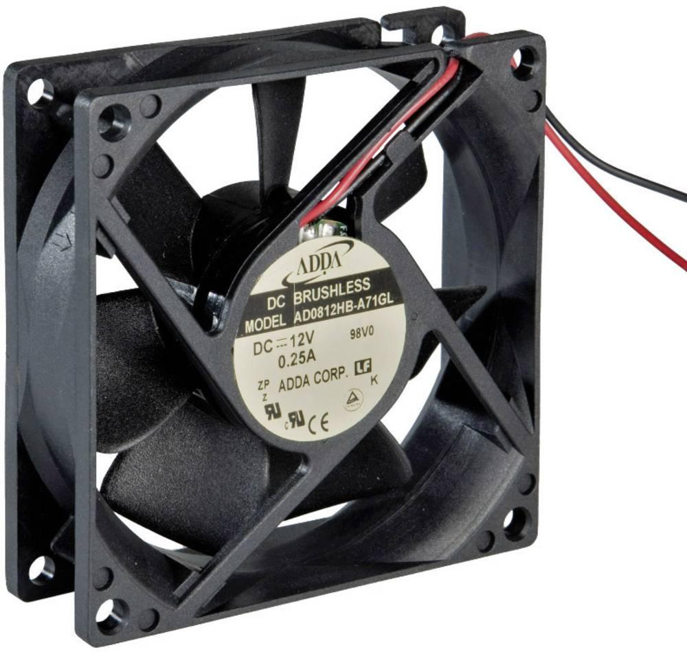 Aksialni ventilator 12 V/DC 68.4 m/h (D x Š x V) 80 x 80 x 25 mm ADDA AD0812HB-A71GL