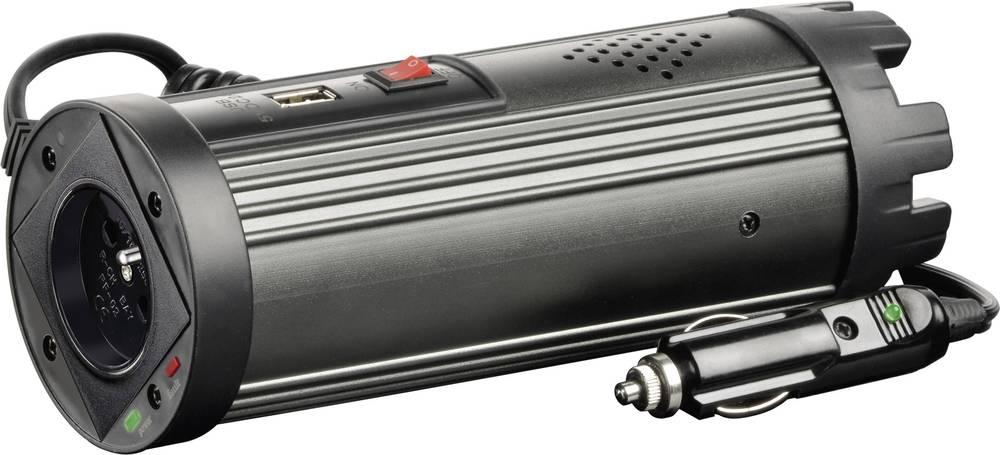 Inverter VOLTCRAFT MSW 150-12-F 150 W 12 V/DC 10.5 - 15 V/DC Dåseformet til kopholder Cigarettænder-stik Beskyttelseskontakt-sti