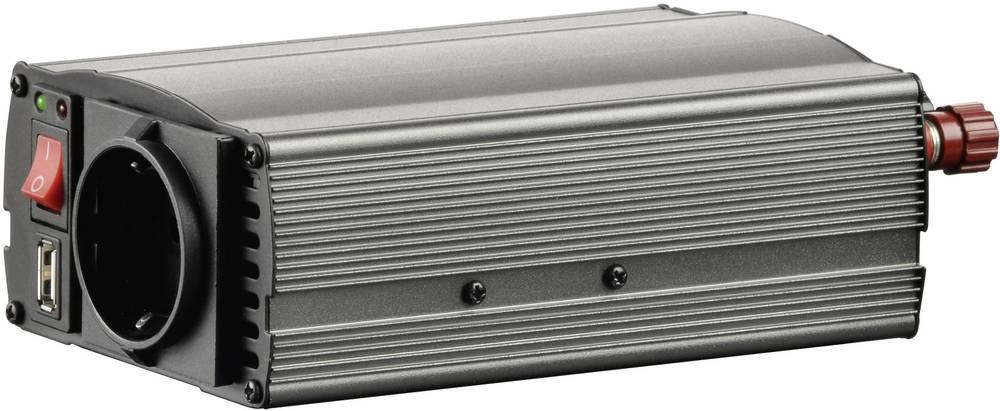 Inverter VOLTCRAFT MSW 300-12-G 300 W 12 V/DC 10,5 - 15 V/DC Cigarettænder-stik, Skrueklemmer Jordstik