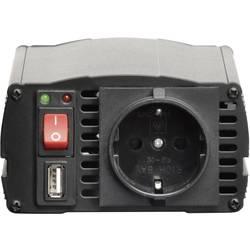 Razsmernik VOLTCRAFT MSW 300-24-G 300 W 24 V/DC 21 - 30 V/DCvtič za cigaretni vžigalnik, in vtičnica z zaščitenimi kontakti