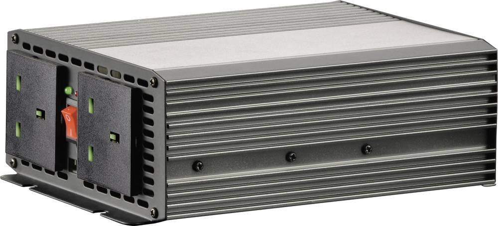Inverter VOLTCRAFT MSW 700-12-UK 700 W 12 V/DC 10.5 - 15 V/DC Skrueklemmer Beskyttelseskontakt-stikdåse UK