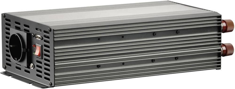 Inverter VOLTCRAFT MSW 2000-24-G 2000 W 24 V/DC 21 - 30 V/DC Skrueklemmer Jordstik