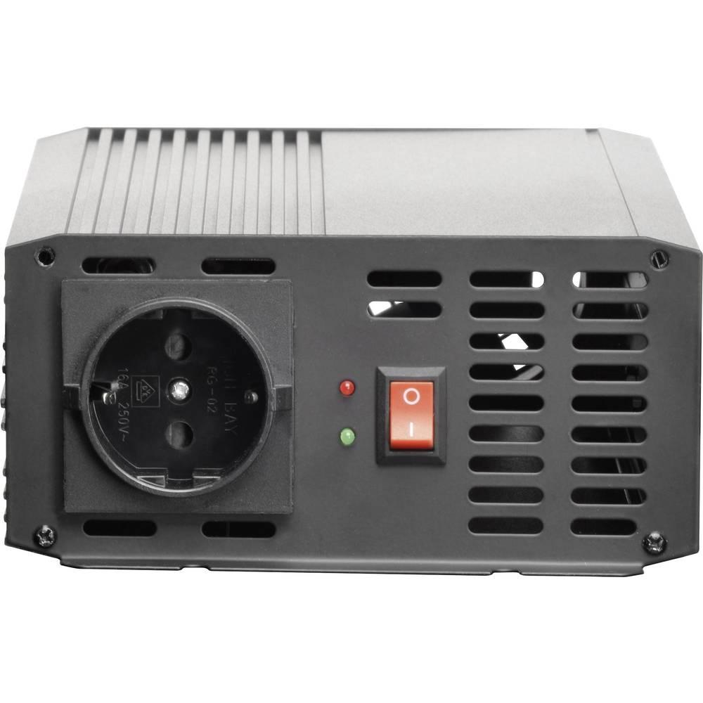 Razsmernik VOLTCRAFT PSW 1000-12-G 1000 W 12 V/DC 10.5 - 15 V/DC in vtičnica z zaščitenimi kontakti