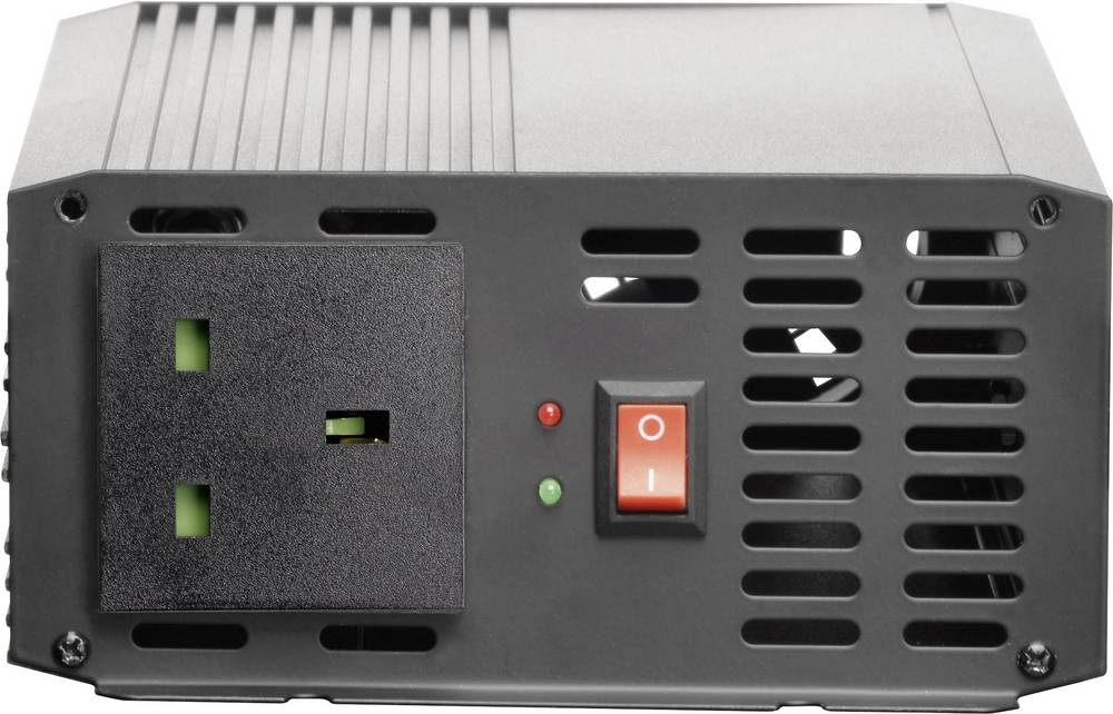 Inverter VOLTCRAFT PSW 1000-12-GB 1000 W 12 V/DC Skrueklemmer Beskyttelseskontakt-stikdåse UK