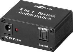 2 porte Toslink-switch Goobay 67766 Metalkabinet