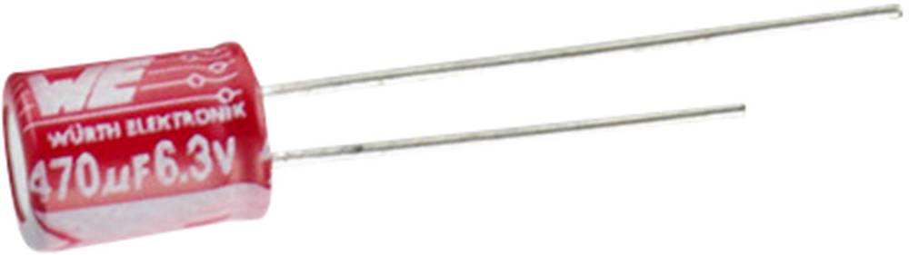 Elektrolitski kondenzator, radijalno ožičen 5 mm 270 µF 25 V 20 % (promjer x V) 10 mm x 12.5 mm Würth Elektronik WCAP-PTG5