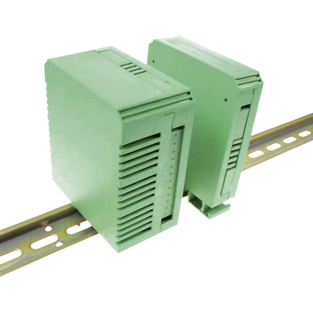 DIN-skinnekabinet Axxatronic CVB225/KIT 90 x 82 x 22.5 Polyamid 6,6 Grøn 1 stk