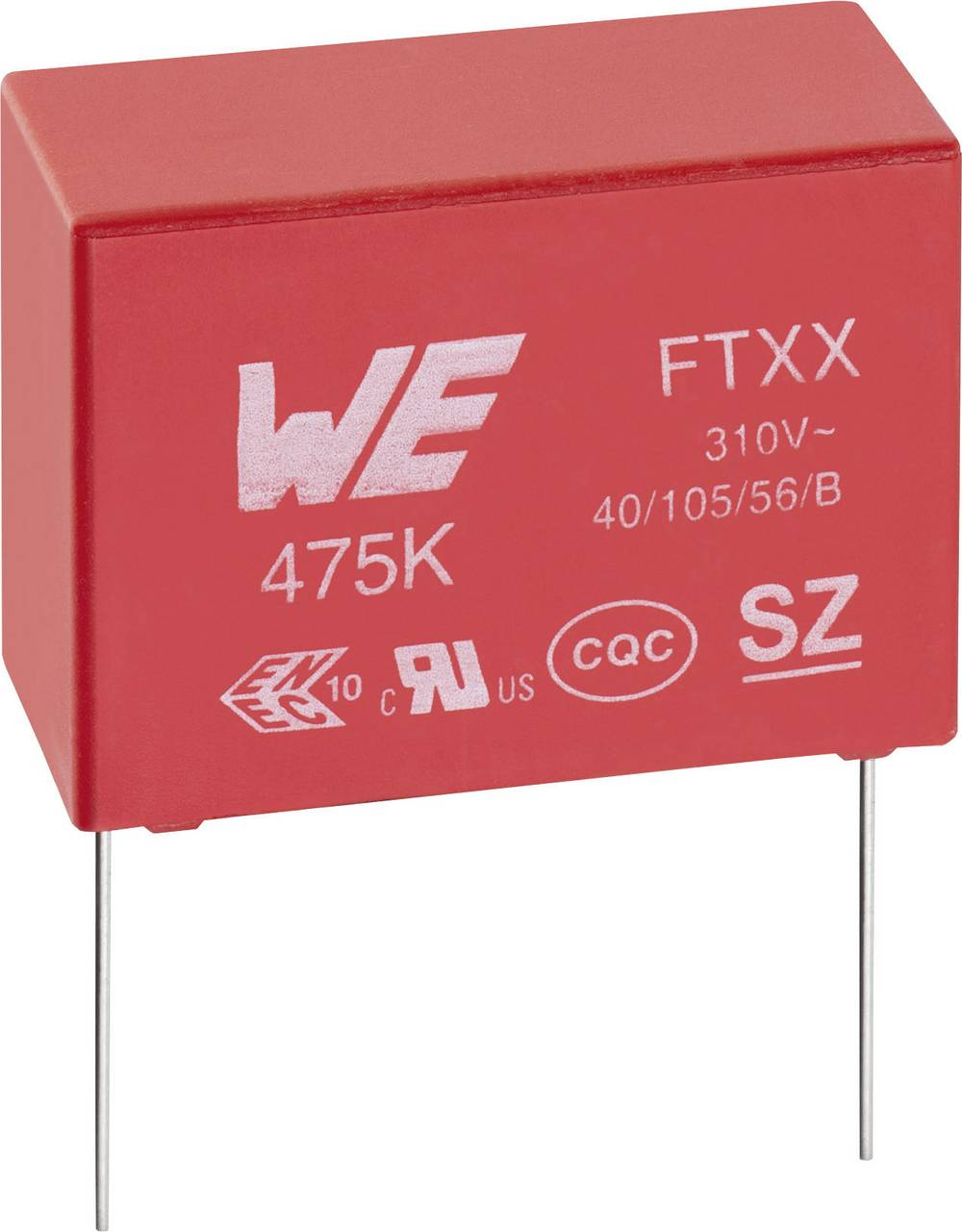 Kondenzator za uklanjanje smetnji X2 radijalno ožičen 47 nF 310 V/AC 10 % 15 mm (D x Š x V) 18 x 5 x 11 mm Würth Elektronik WCAP