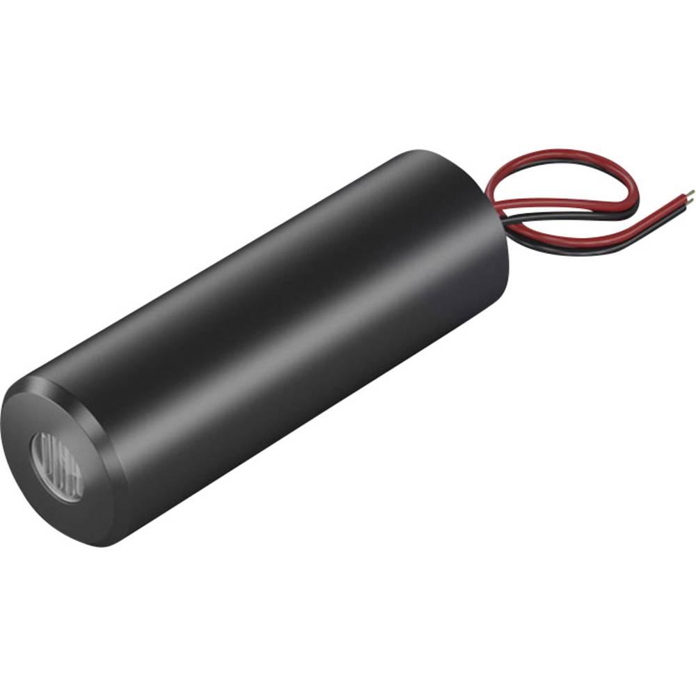Laserski modul, križna linija, rdeče barve 2 mW Picotronic CB635-2-3(16x45)-F1000
