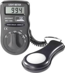 VOLTCRAFT MS-1300 luksmeter, merilnik svetilnosti, merilnik osvetlitve, 0,1 - 50 000 lx, svetlobna merilna naprava