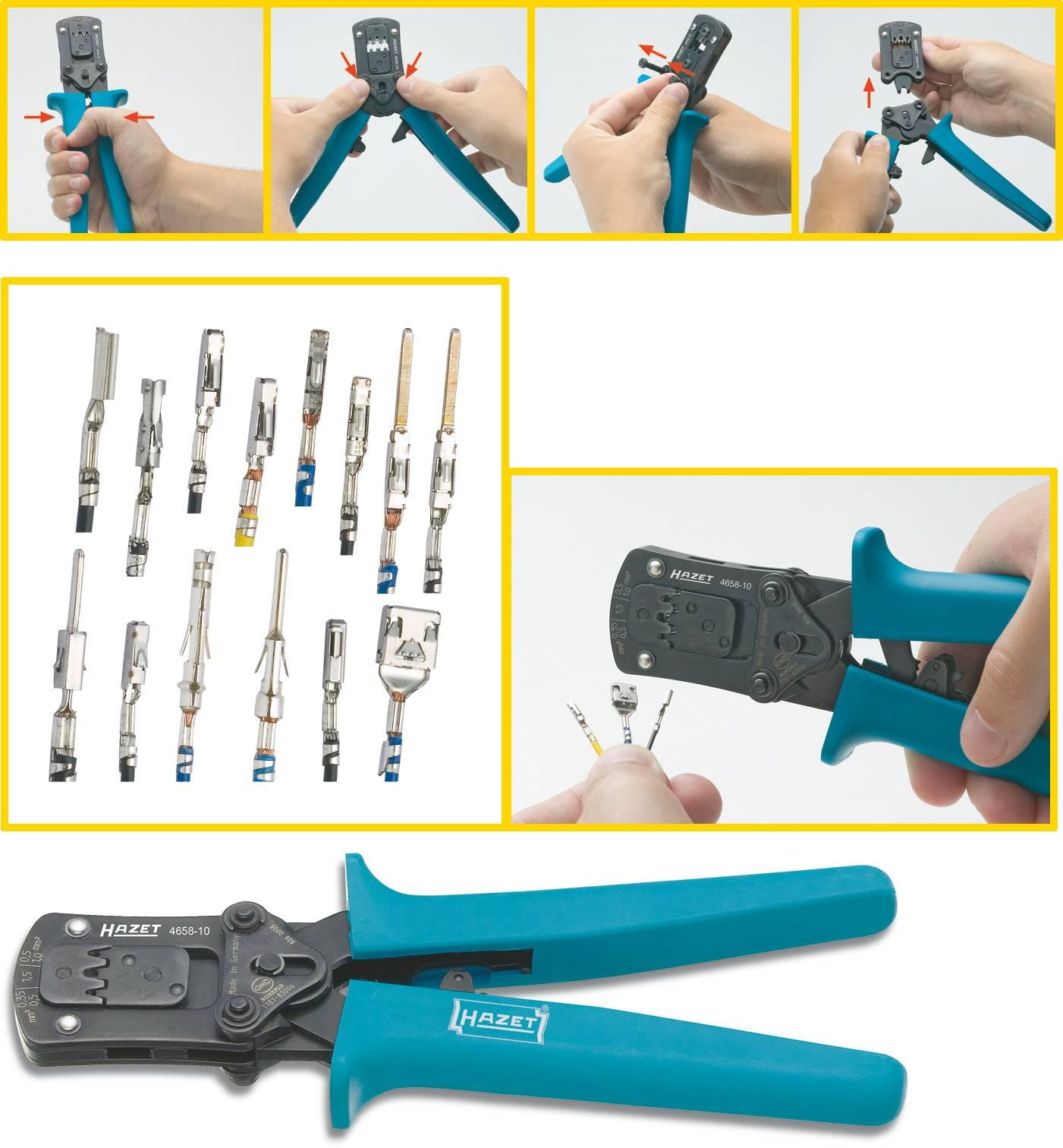 Hazet 4658-10 Crimping pliers