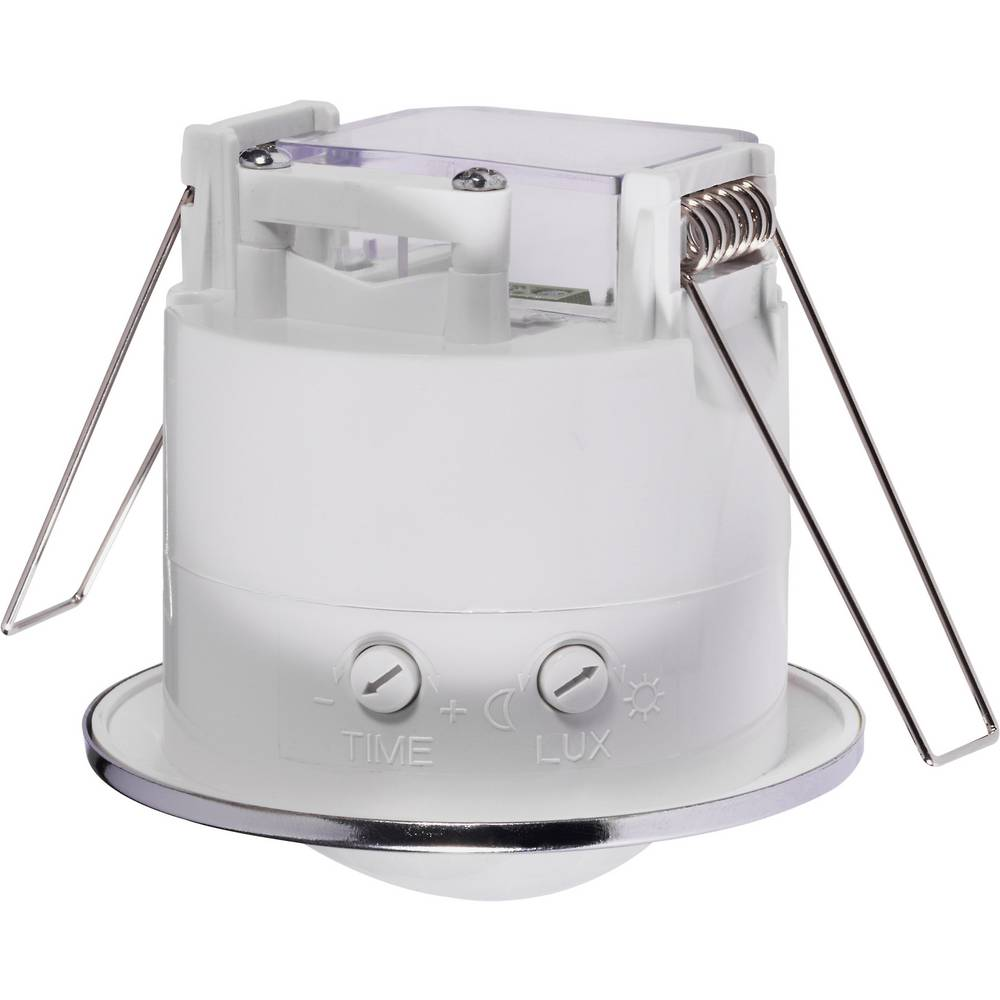 Renkforce 1289331 Ceiling Recess Mount Pir Motion Detector 360 Mini Sensor Switch W Built In Timer Switches Relays Relay Chrome Ip20