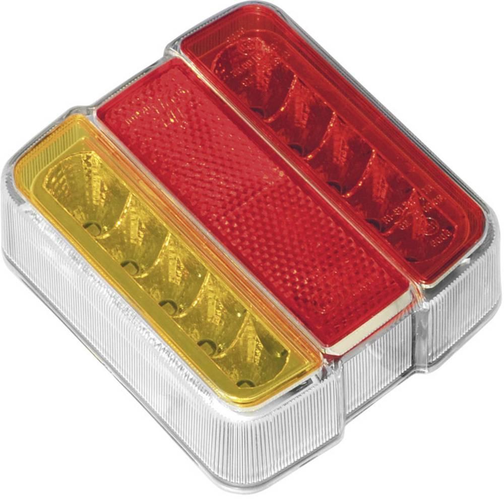 Zadnja LED luč za priklopnike, luč za registrsko tablico, smernik, zavorna luč, rdeča, oranžna, bela 12 V LAS