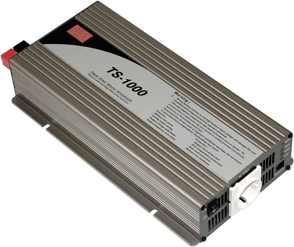 Razsmernik Mean Well TS-1000-212B 1000 W 12 V/DC 10.5 - 15 V/DC vijačne sponke, vtičnica z varnostnim kontaktom