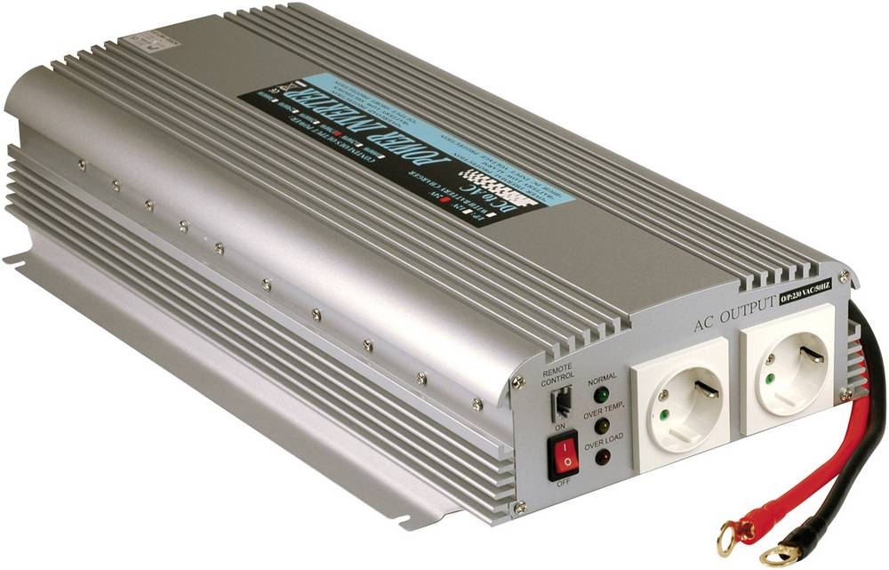 Izmjenjivač A301-1K7-F3 Mean Well 1500 W 12 V/DC 10 - 15 V/DC navojne stezaljke šuko utičnica
