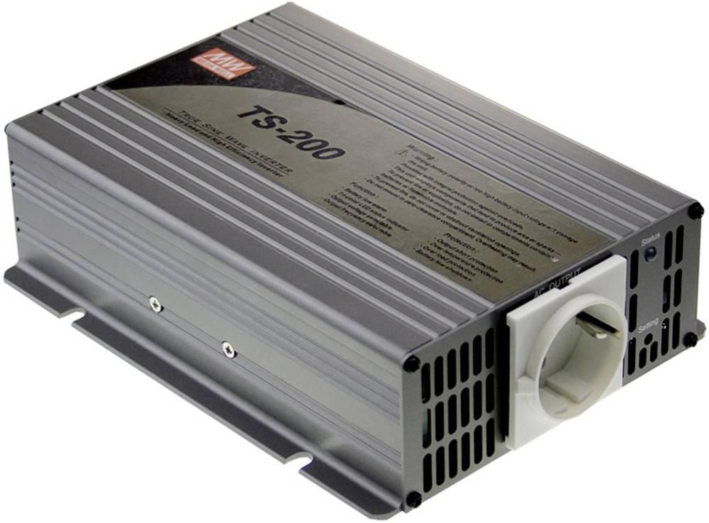 Razsmernik MeanWell No TS-200-248B 200 W 48 V/DC 42 - 60 V/DC vijačne sponke, vtičnica z zaščitnimi kontakti