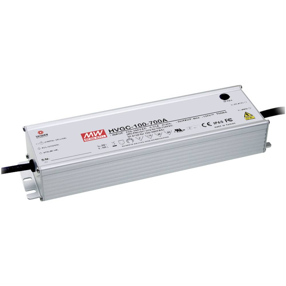 Mean Well Hvgc 100 700a Led Driver Constant Current 99 W 07 A 15 Circuit Series Protection 142 Vdc Dimmable Pfc Surge